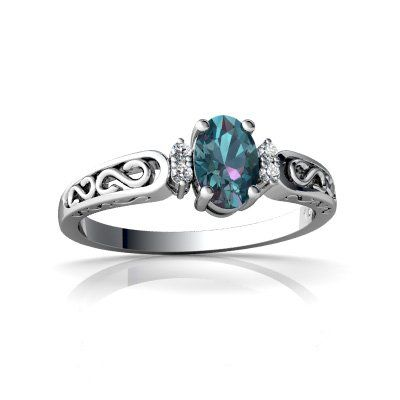 14kt White Gold Lab Alexandrite and Diamond Oval Filigree Scroll Ring - Size 6 Jewels For Me http://www.amazon.com/dp/B0002J7LFQ/ref=cm_sw_r_pi_dp_-uKOub0CBJPT5