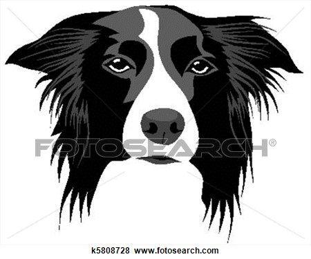 Border Collie Clip Art K5808728 Border Collie Art Dog Design Art Dog Breed Decal