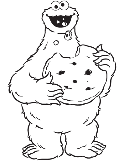 Cookie Monster Eating Cookies Are Great Coloring Pages Cookie