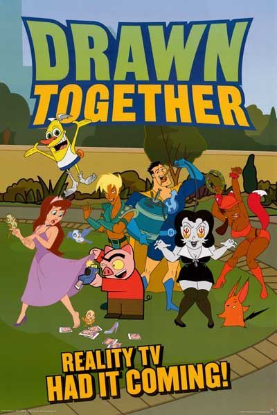 Drawn Together Cartoon Cast Poster 24x36 Drawn Together Comedy Cartoon Watch Drawing