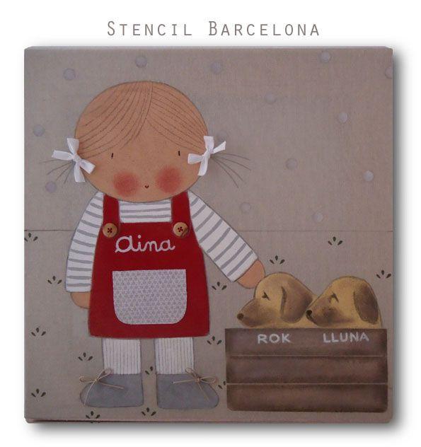 Cuadros infantiles personalizados de stencil barcelona - Stencil barcelona ...