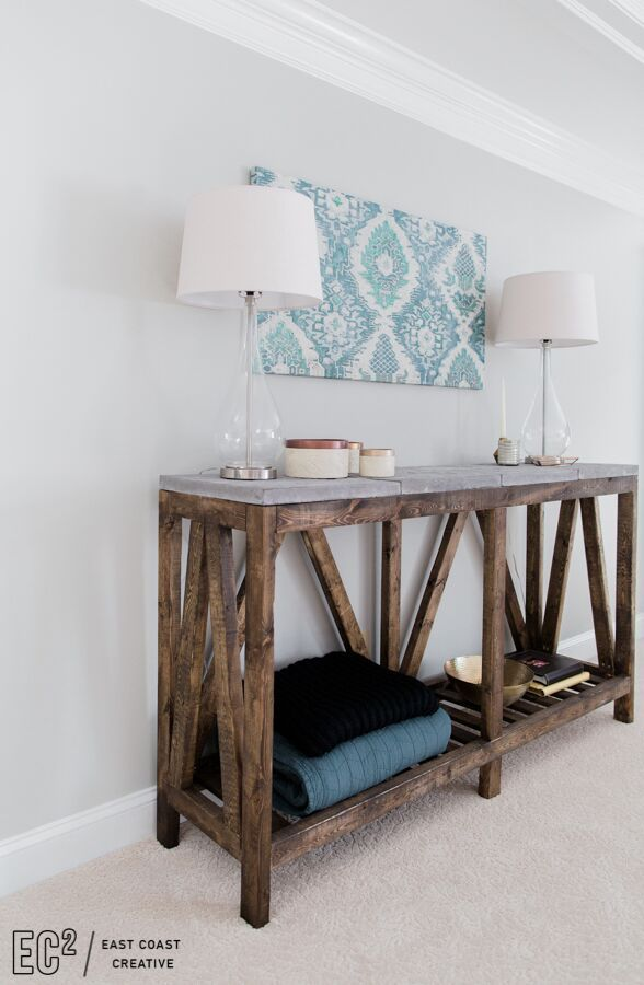 Build a modern farmhouse console table in just a weekend for under ...