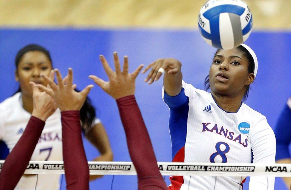 History No 9 Kansas Advances To Elite Eight Volleyball News University Of Kansas Kansas