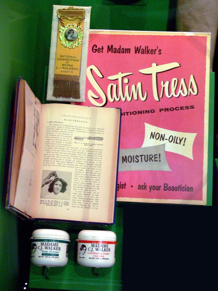 Some of Madam C.J. Walker's products on display at The