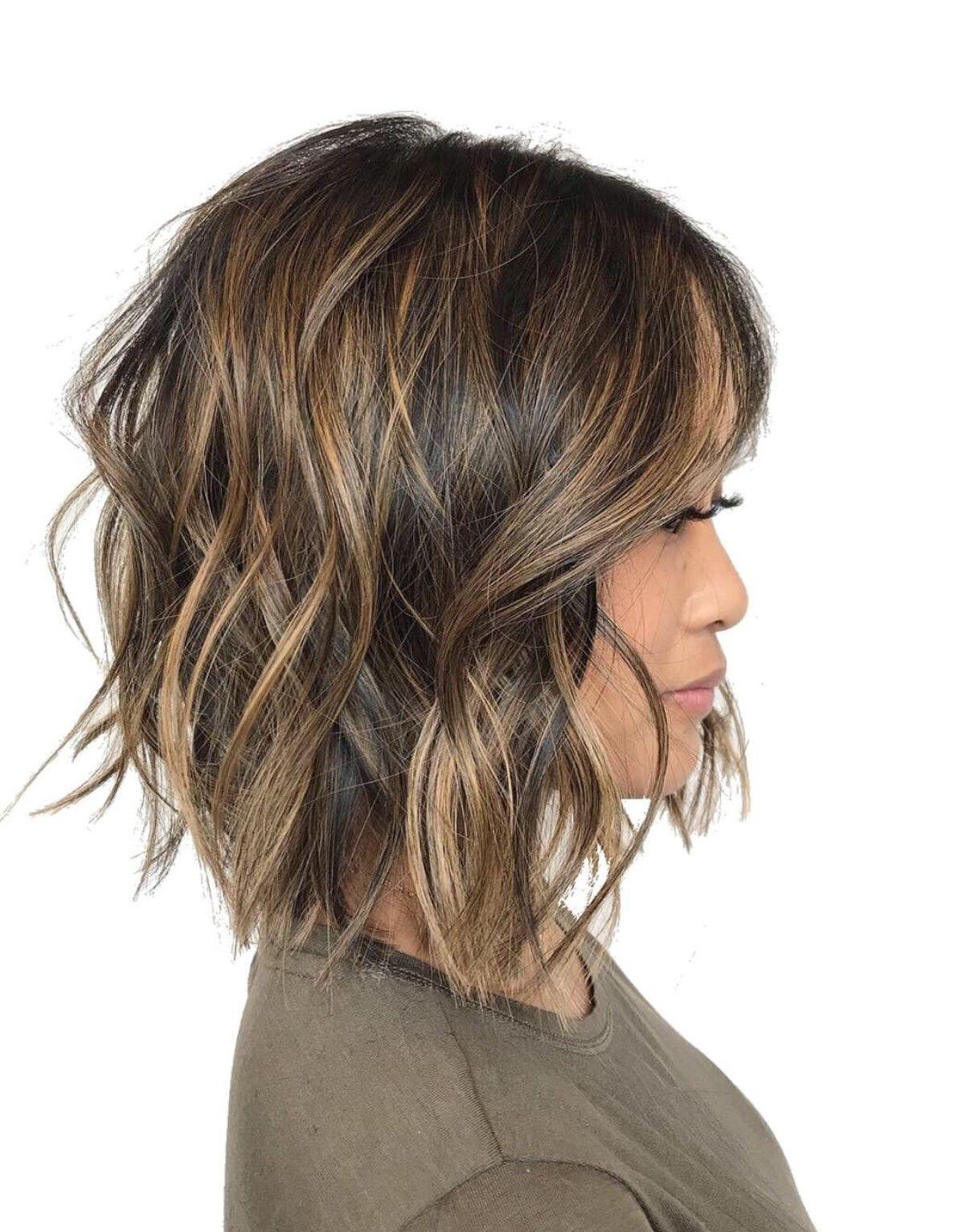 Short Dark Brunette Balayage From Hmb Hair Makeup Beauty Honolulu Hawaii Haare Balayage Haarschnitt Ideen Brunette Haarfarbe