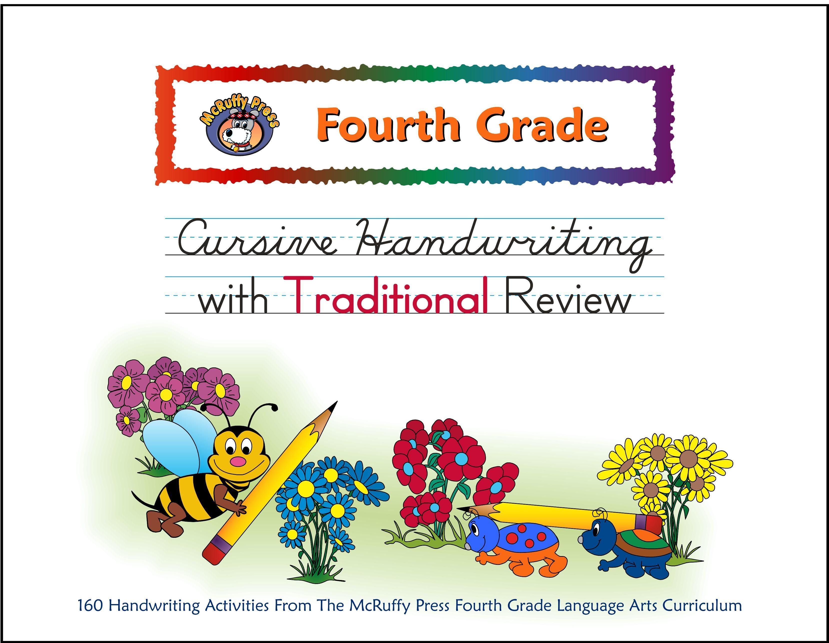 Fourth Grade Cursive With Traditional Review Handwriting