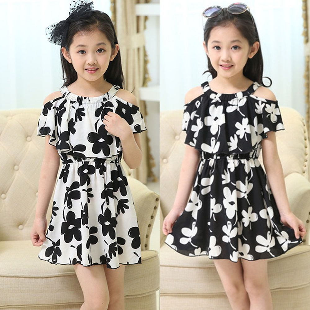 6f4855e6f308e Baby Kids Girls Princess Party Off Shoulder Layered Lace Dress Floral  Dresses