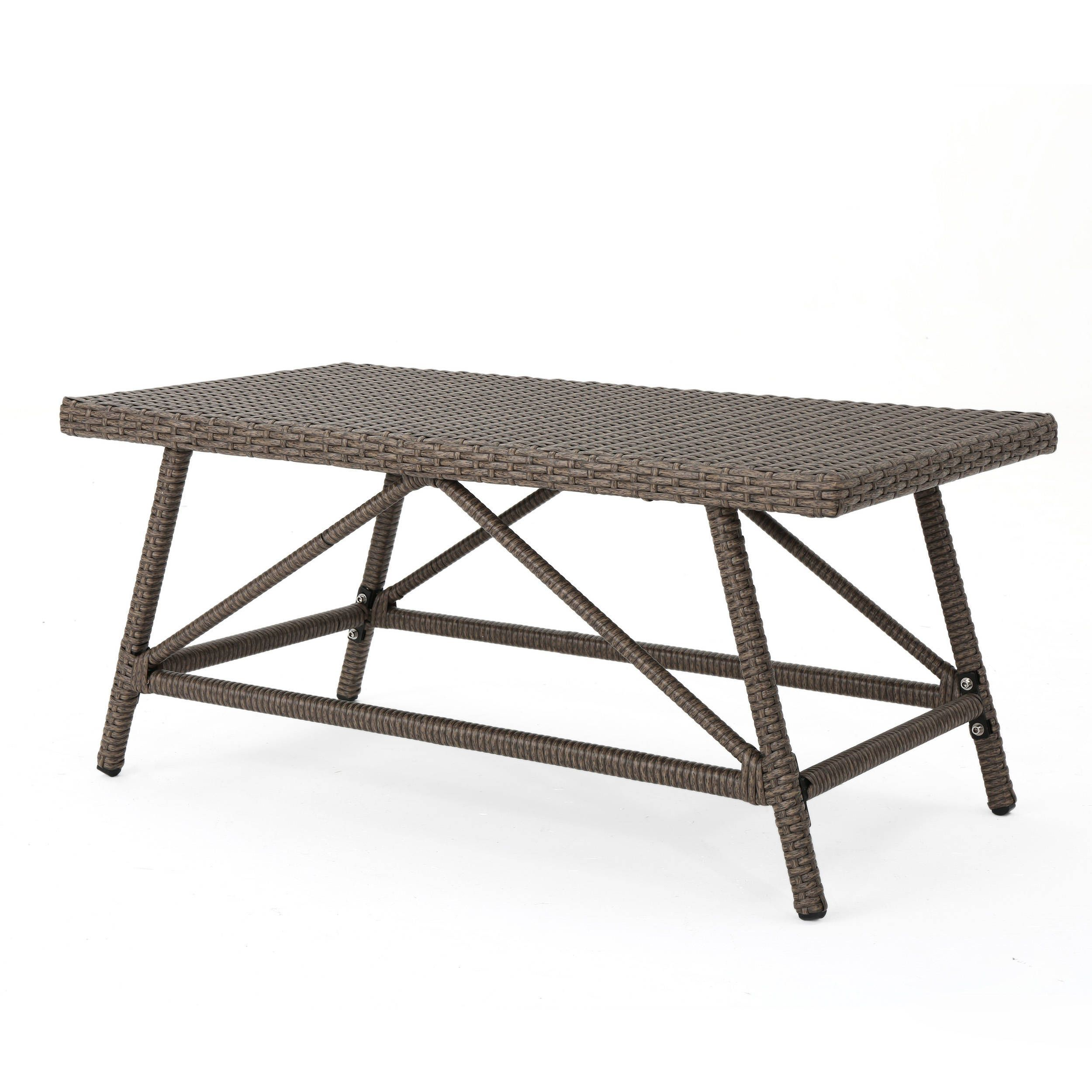Hazel Outdoor Wicker Coffee Table by Christopher Knight Home by