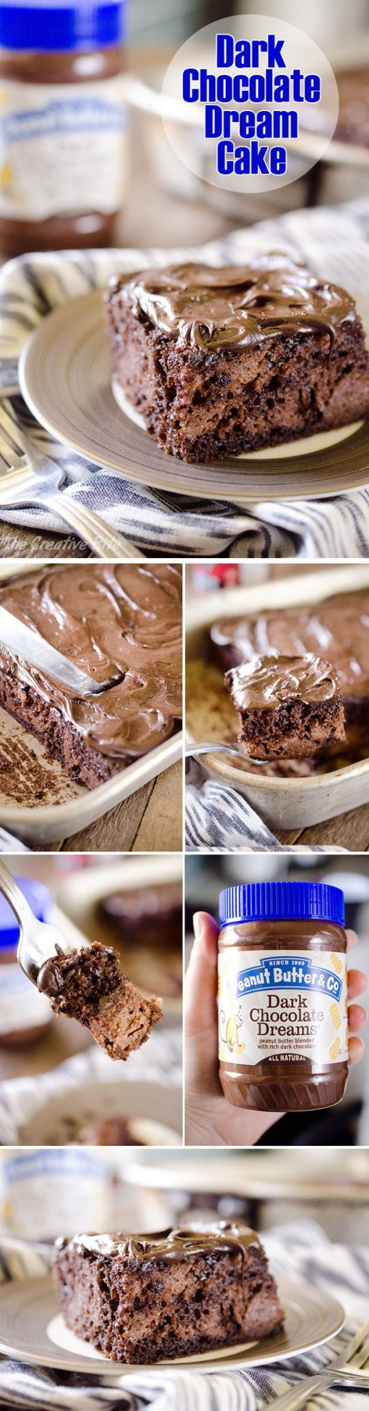 Dark Chocolate Dream Cake is an easy dessert recipe loaded with dark chocolate goodness for a rich and decadent treat! #DarkChocolate #Cake #Sweet #Easy #Chocolate