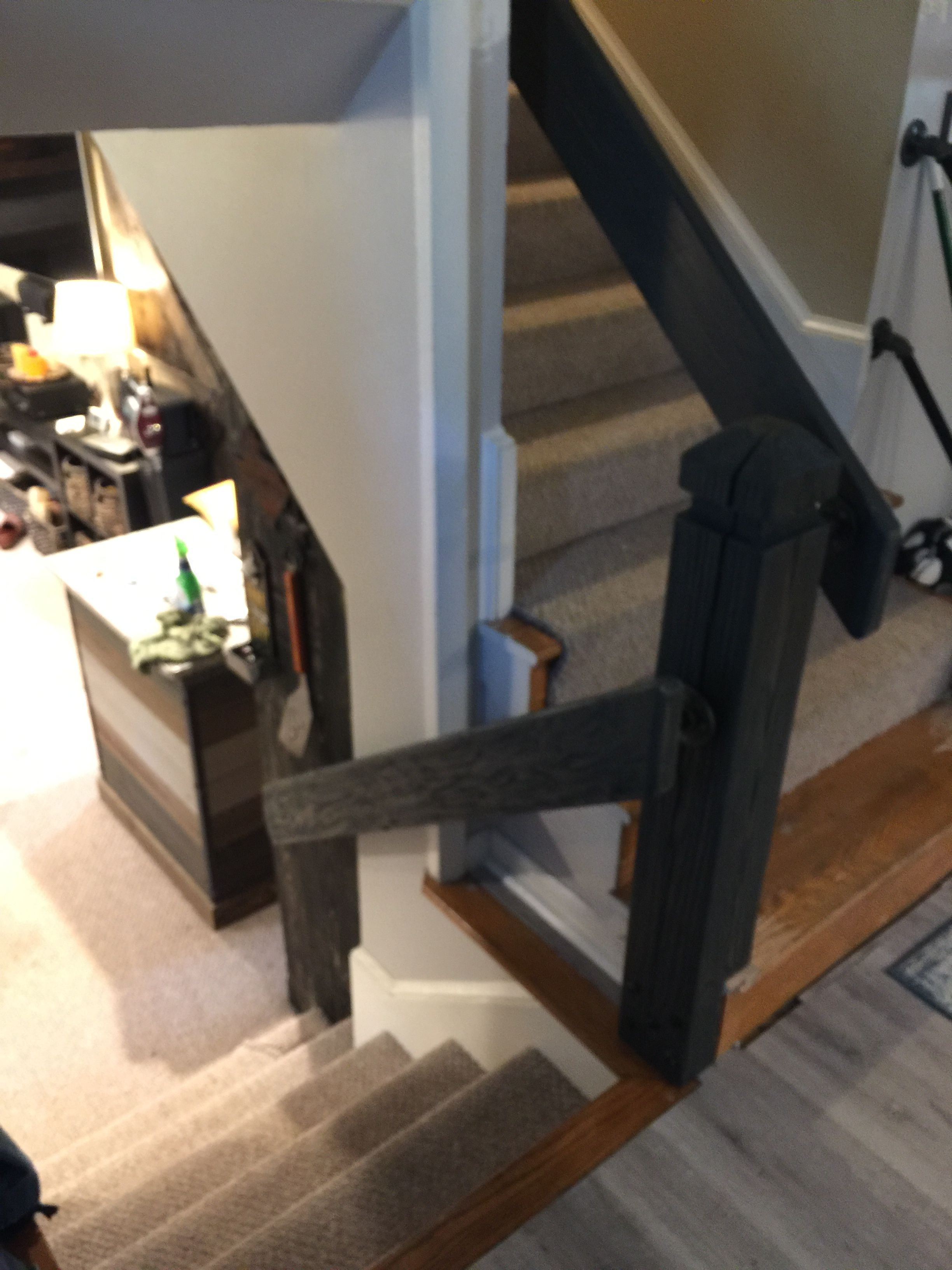 Best Faux Barn Wood Stair Rail Wood Stairs Home Decor Barn Wood 640 x 480