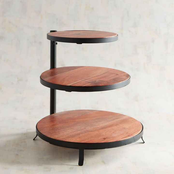 Napa Wooden 3 Tiered Server Tiered Server Tiered Tray Decor Wooden Serving Platters