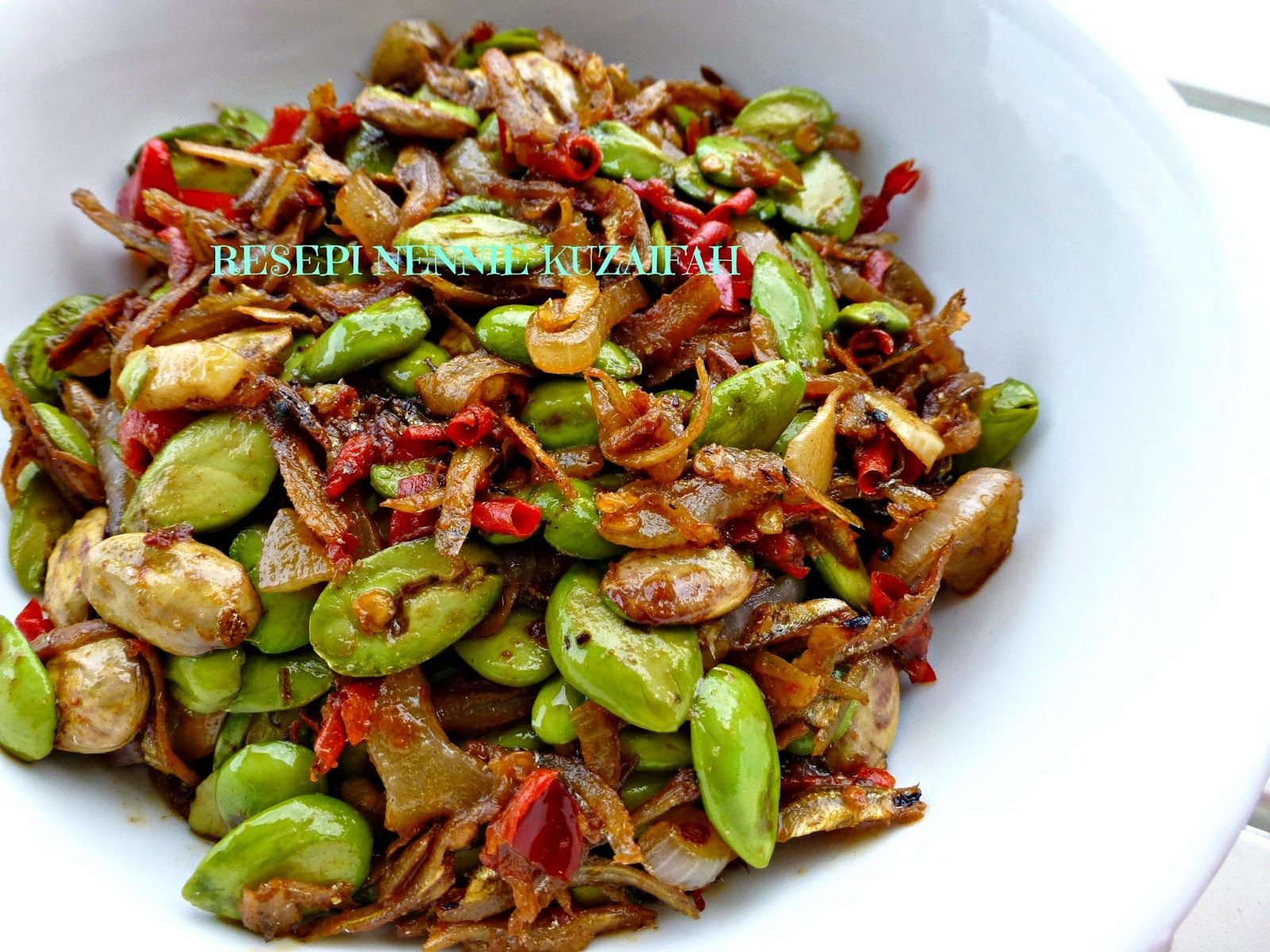 Resepi Nennie Khuzaifah Sambal Petai Ikan Bilis Resep Masakan Resep Masakan Asia Resep Makanan