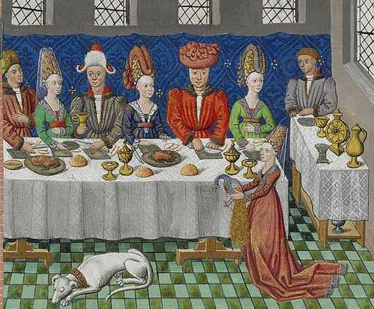 Image result for medieval manuscript banquet