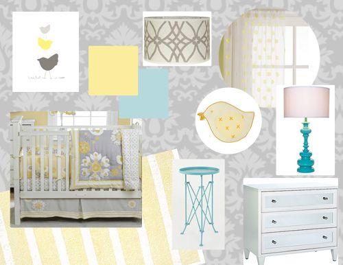 Gray And Yellow Nursery Inspiration Board Yellow Nursery