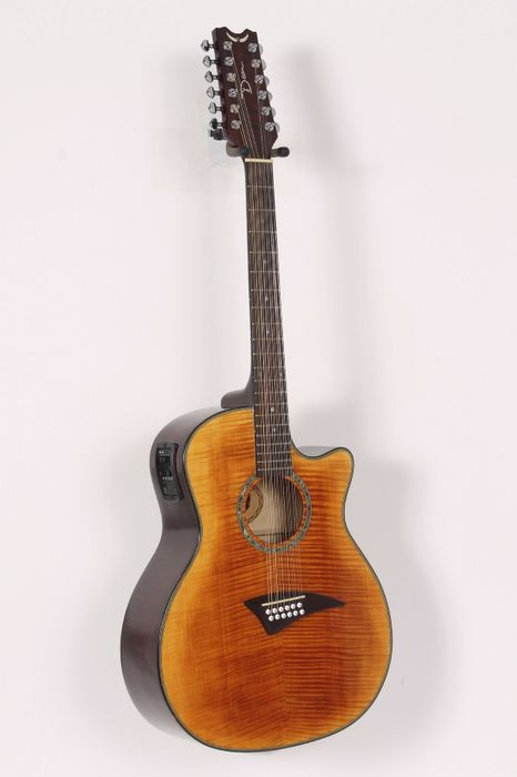 Click Image Above To Buy: Used Dean Exotica Fm 12-string Acoustic-electric Guitar Tiger Eye 886830589959