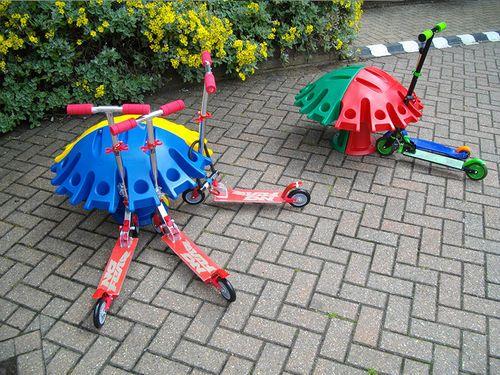 Range-trottinette pour espaces publics SCOOTERPOD Cyclepods