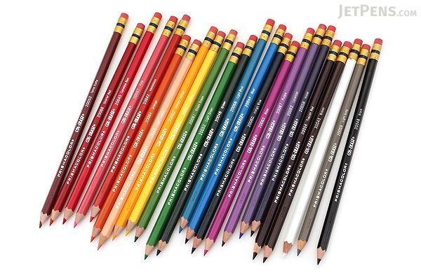 Prismacolor Col Erase Colored Pencil 24 Color Set Prismacolor