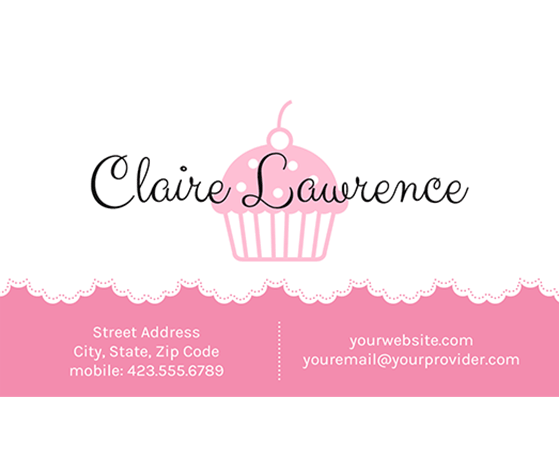 Download This Doily And Cupcake Business Card Template And Other