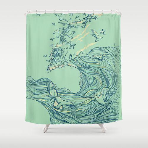 Ocean Breath Shower Curtain