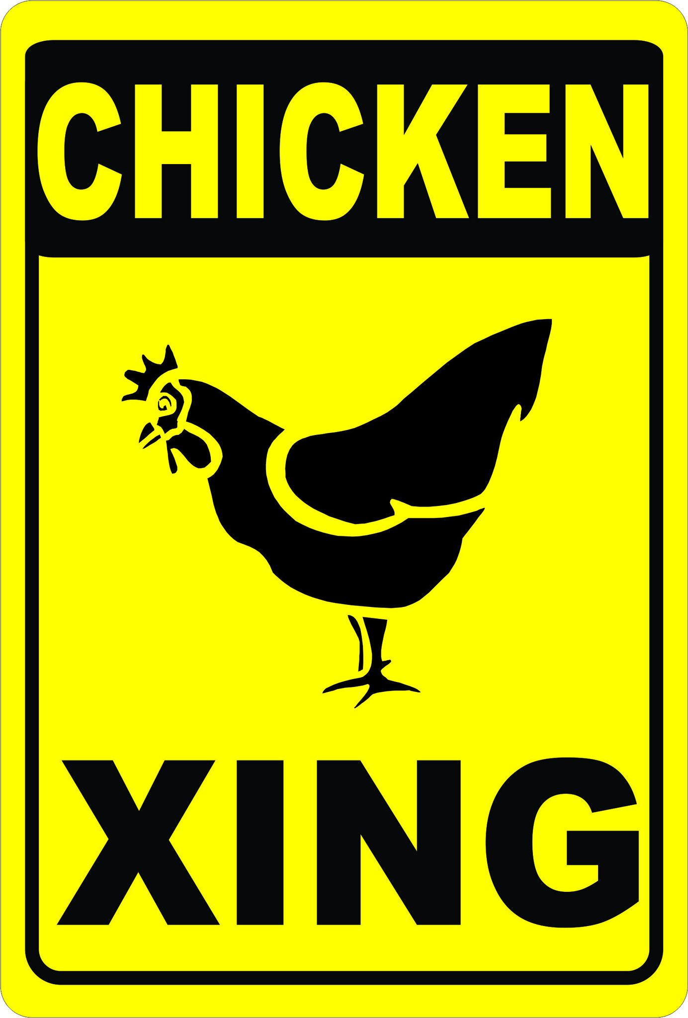 Chicken crossing sign crossing sign funny kitchen signs