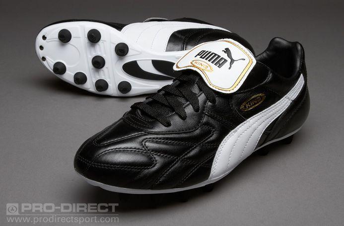 a11777c39 Puma King Top di FG - Black White Gold