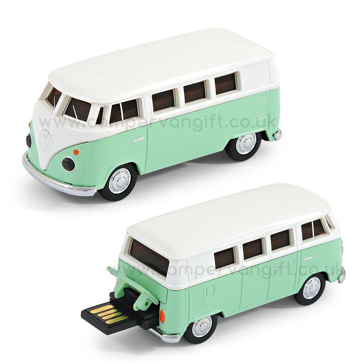 Vw Green Campervan 8gb Usb Memory Stick Campervan Gifts Usb