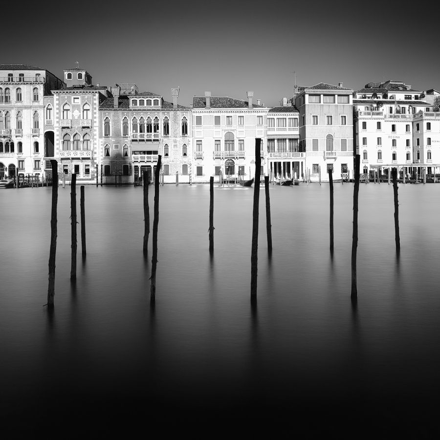 Venice canal grande black and white photography w 10 stop nd filter