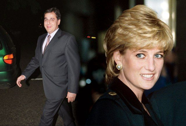 Dr. Hasnat Khan with insert of Princess Diana