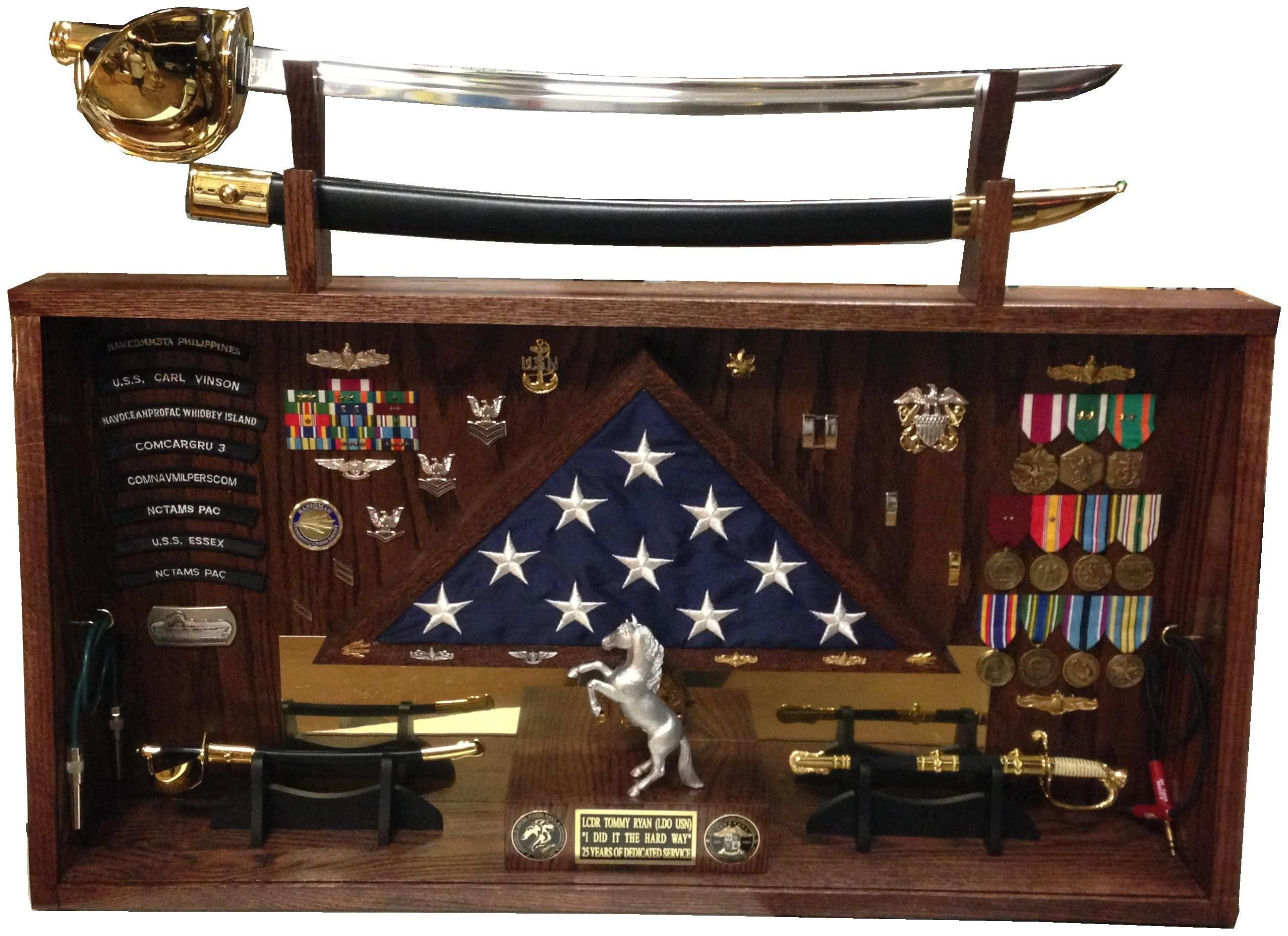 Shadowbox for a Navy Limited Duty Officer retirement ...
