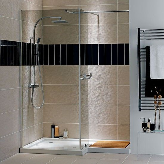 Storm l shaped recess shower from homebase walk in for Bathroom designs durban