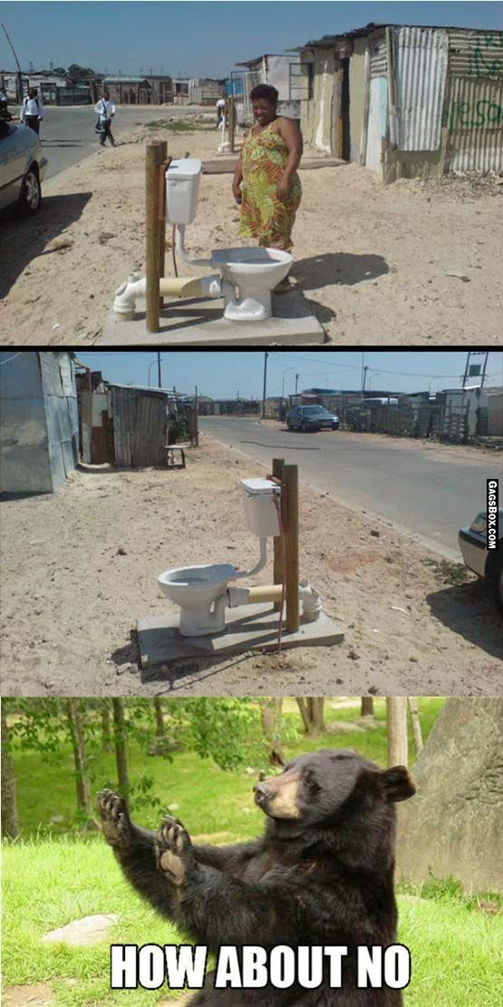 Some Public Toilet In South Africa funny, lol, humor