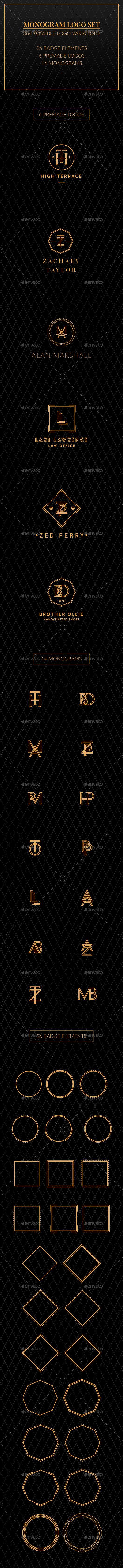 Monogram logo Template Vector EPS, AI Set. Download here: http ...
