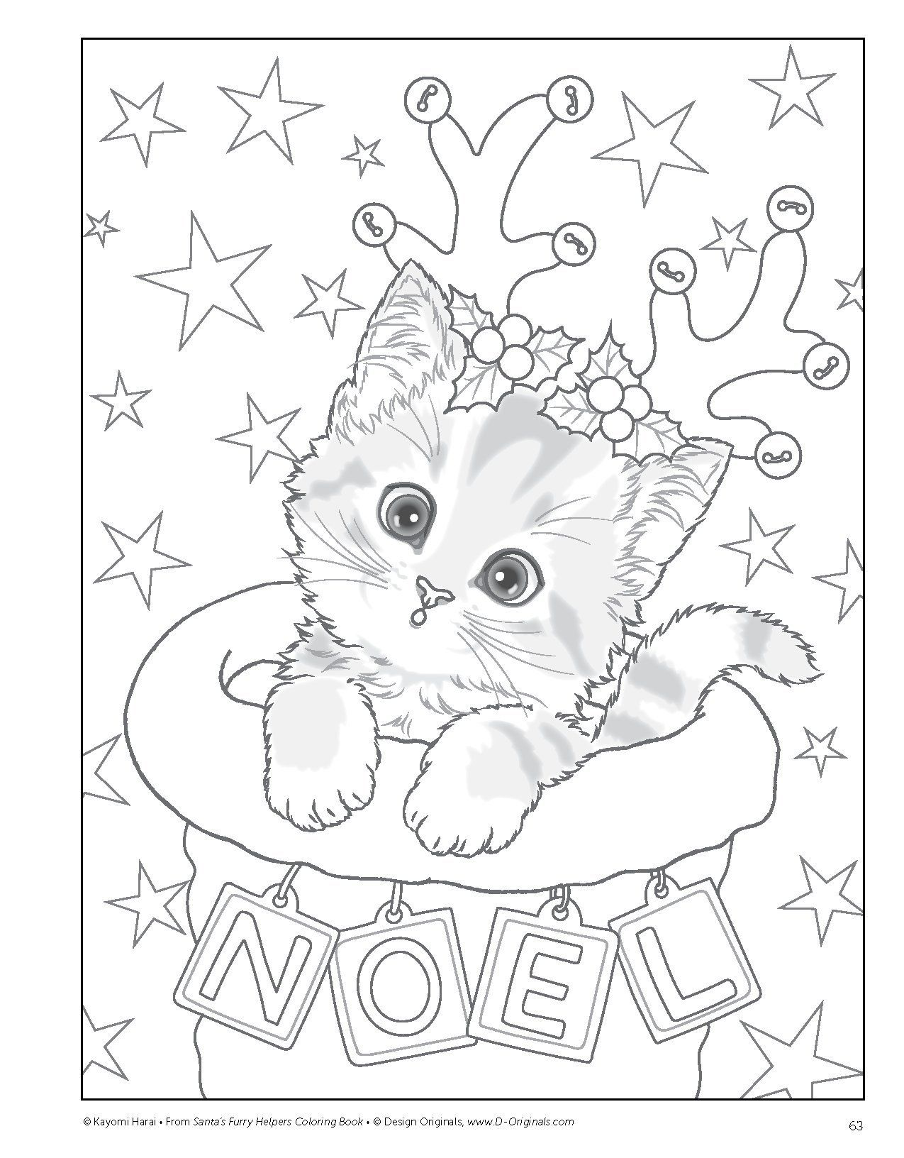 It is an image of Effortless Free Printable Cute Christmas Coloring Pages