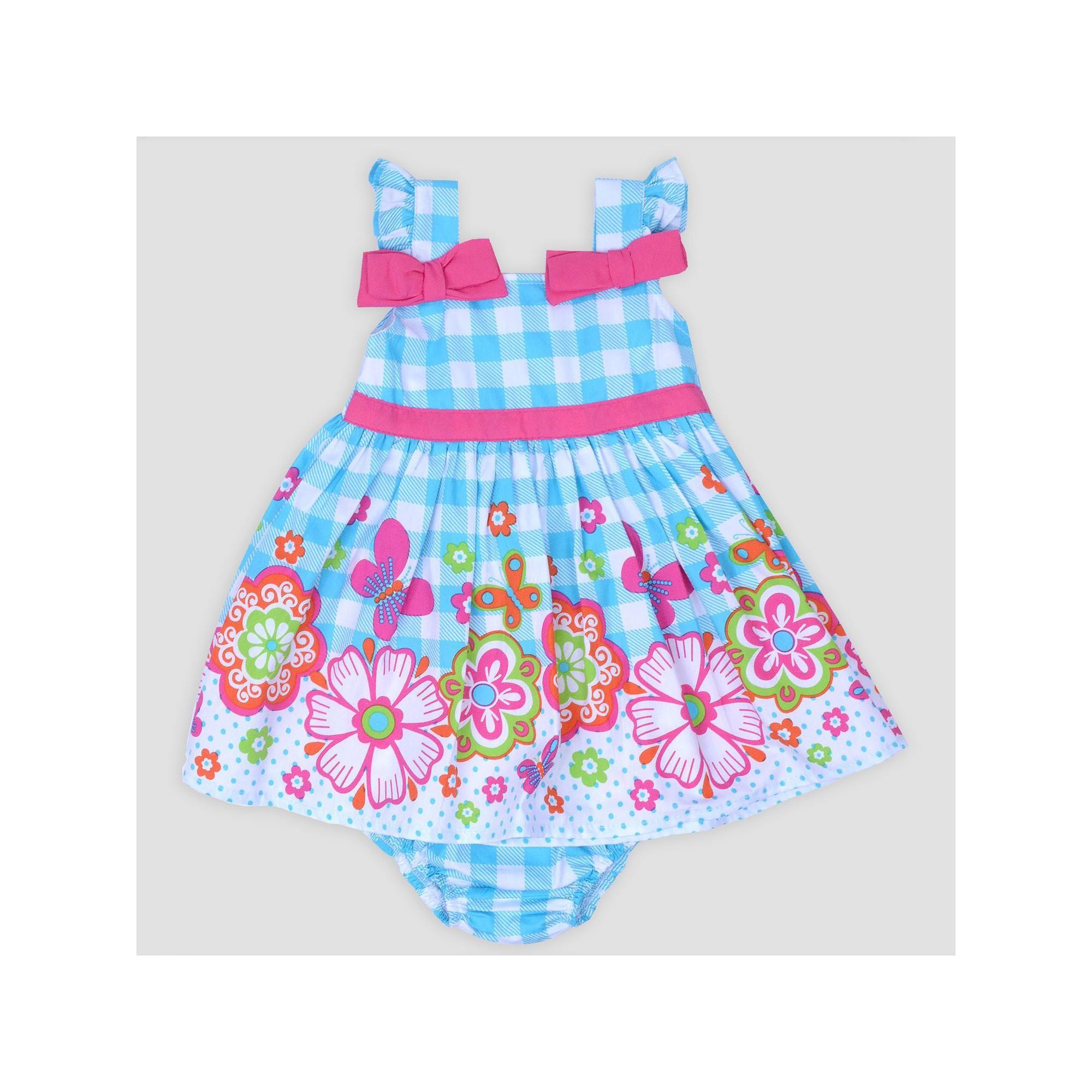 7b5bb54809e Baby Girls  Gingham Poplin Sundress Nate   Annee - Turquoise 3-6M ...