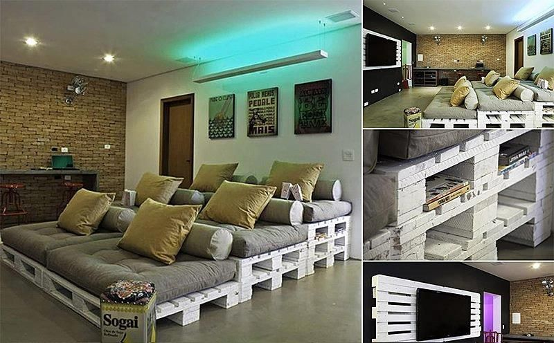 Cinema Couch Made With Euro Pallet