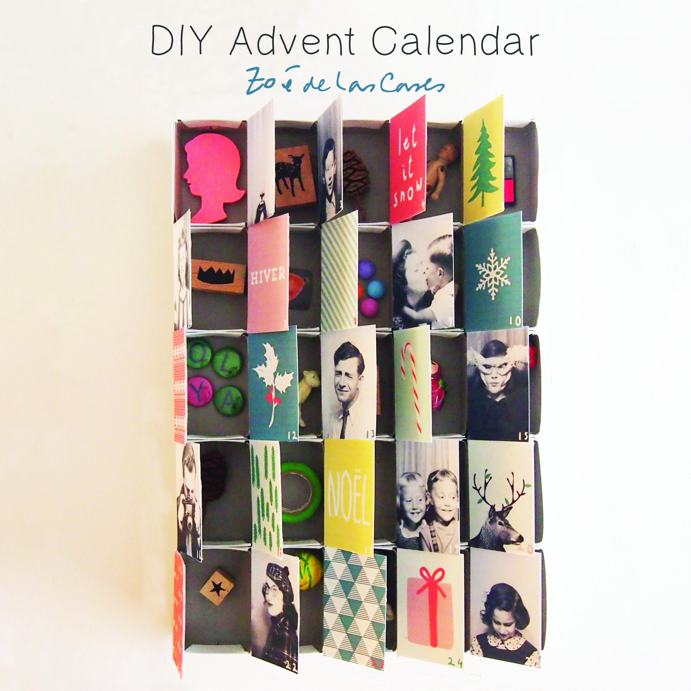Diy Advent Calendar Using Old Christmas Cards, By Zo De