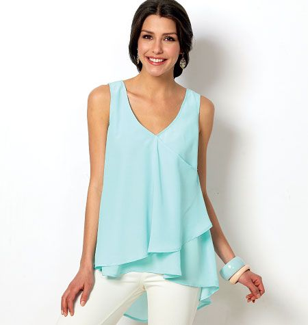 Misses\' Tops and Tunics | Sewing | Pinterest | Tunics, Hemline and ...