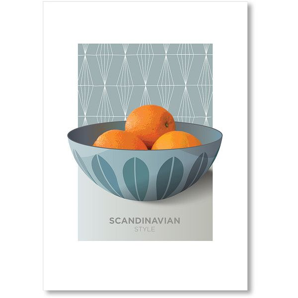 Americanflat Cathrineholm Orange Wall Art ($17) ❤ liked on Polyvore