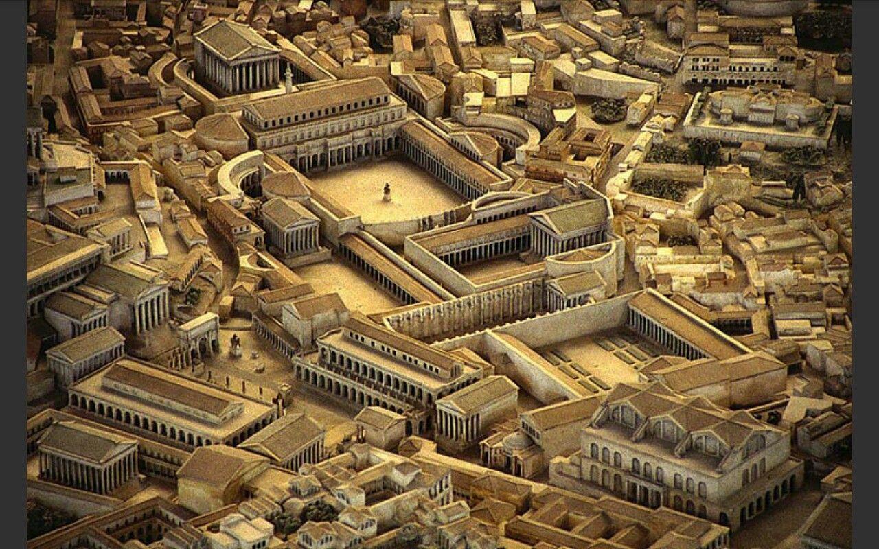 Ricostruzione del Foro di Traiano