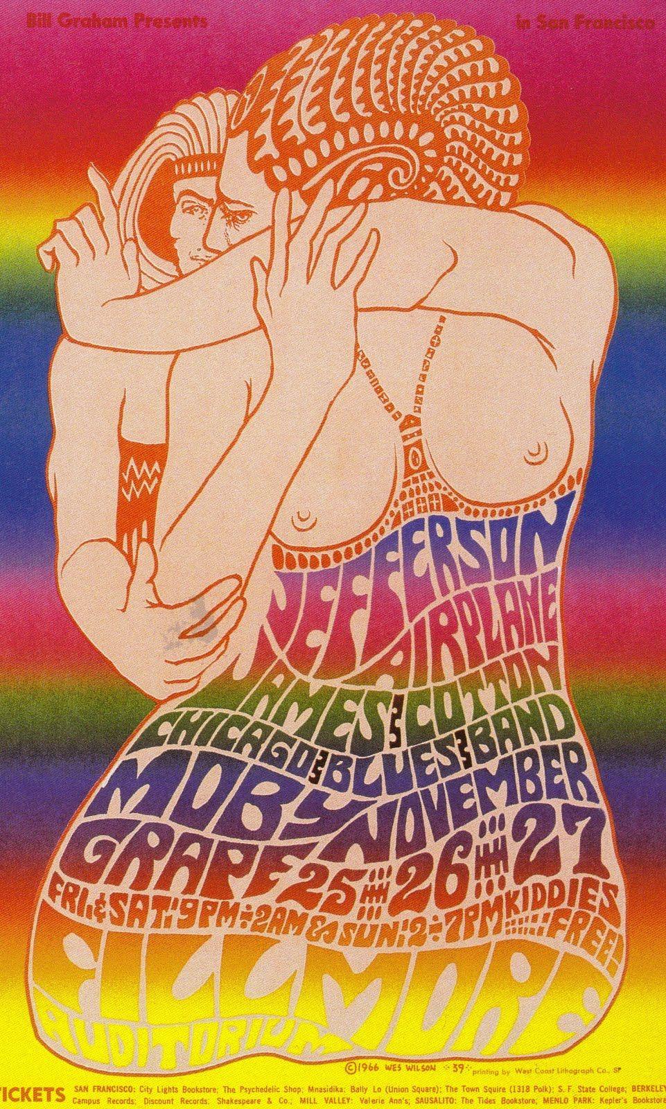 Jefferson Airplane, James Cotton, Chicago Blues Band, Moby Grape  San Francisco - Fillmore Auditorium - 1966