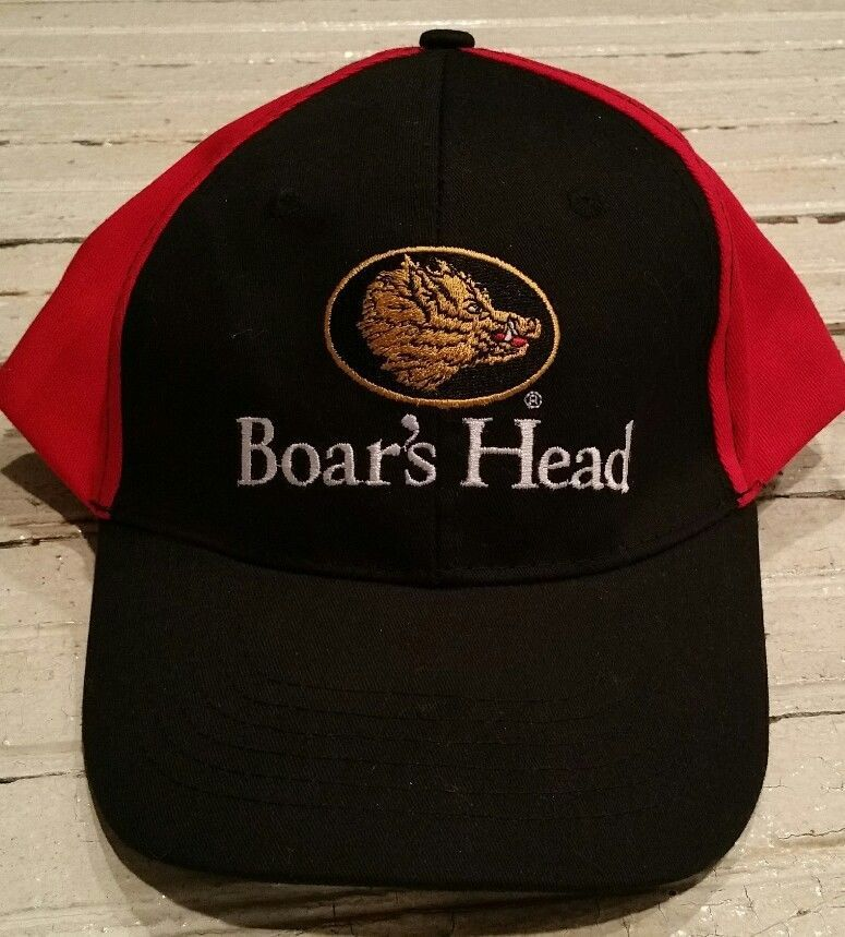 Boar s Head Provision Meats Black Red Gold embroidered Logo Hat baseball  Cap  BoarsHead  BaseballCap 909cf62e5378