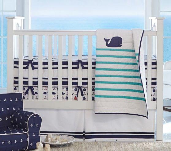 Hamptons Whale Baby Bedding Crib Bedding Boy Girl Nursery