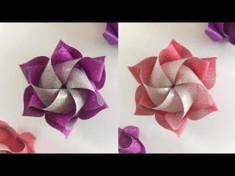 สอนพับเหรียญโปรยทานอย่างง่าย ลายน่ารัก ดอกบัวหลวงจิ๋วสุดคิ๊วท์ .. Ribbon Art
