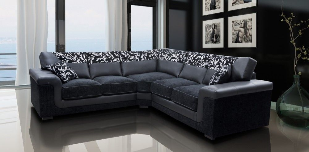 For Residential And Commercial Buildings Leather Corner Sofa