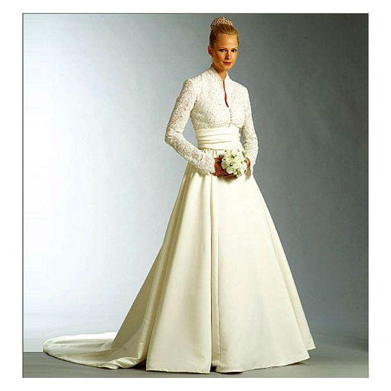 Vogue V2979 Grace Kelly Wedding Dress Pattern UNCUT Formal Evening ...
