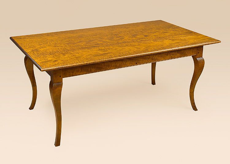 French Country Farmhouse Table - Tiger Maple Wood - Dining Room Farm Table #FrenchCountryTables