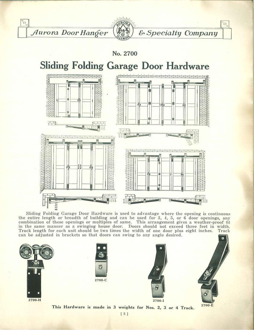 Sliding Folding Garage Door Hardware From Garage Door Hardware Published By Aurora Door Hanger Specialt Garage Door Hardware Garage Door Types Garage Doors