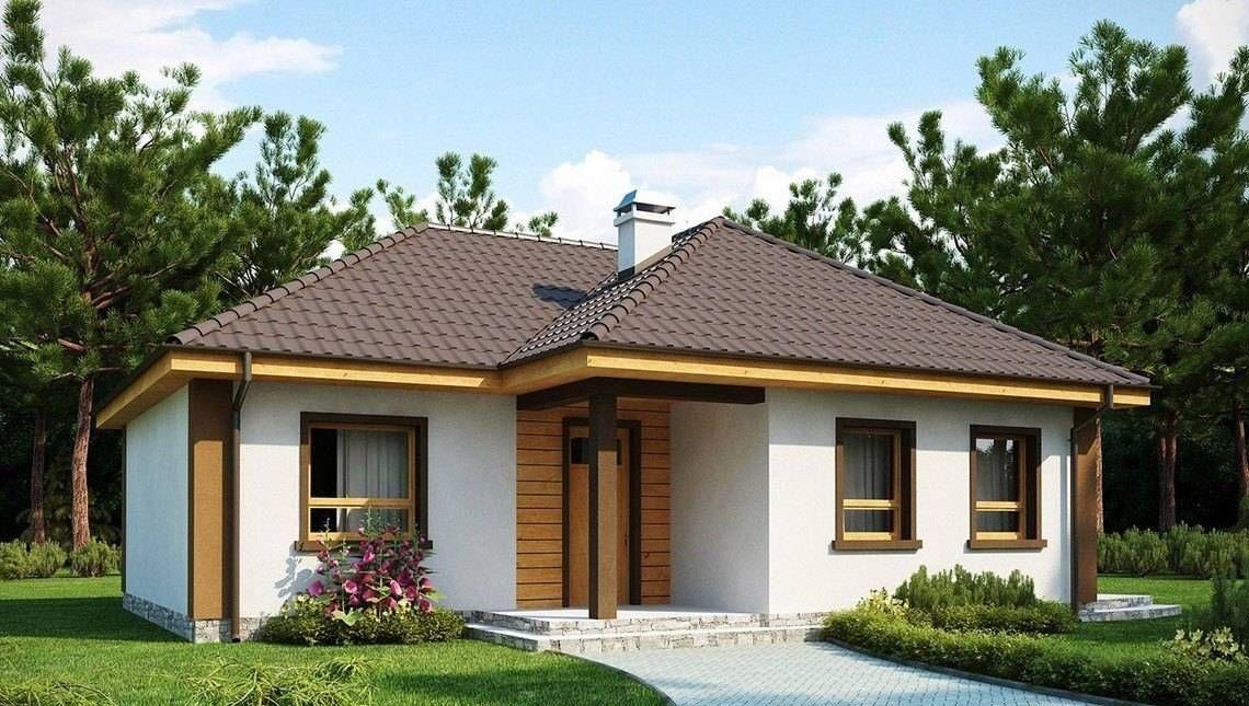 Проект небольшого одноэтажного коттеджа с тремя спальнями ...