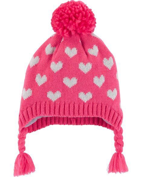 7bd270d5ce9 Heart Pom Pom Hat