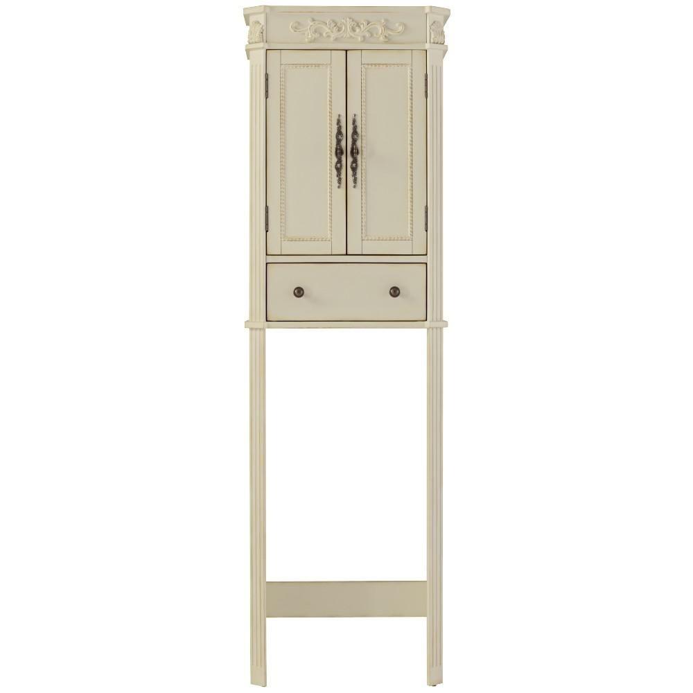 Antique White Storage Cabinet | http://divulgamaisweb.com ...
